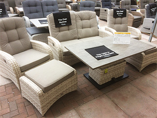 The latte coloured rattan sofa set